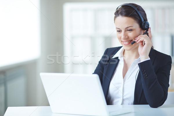 Online consultation Stock photo © pressmaster