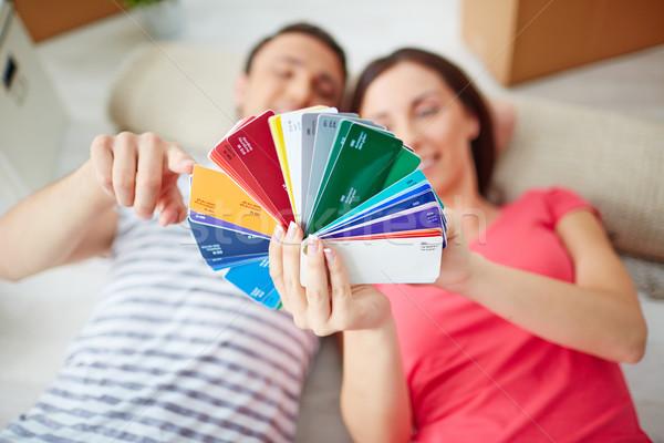 Discussing colors Stock photo © pressmaster