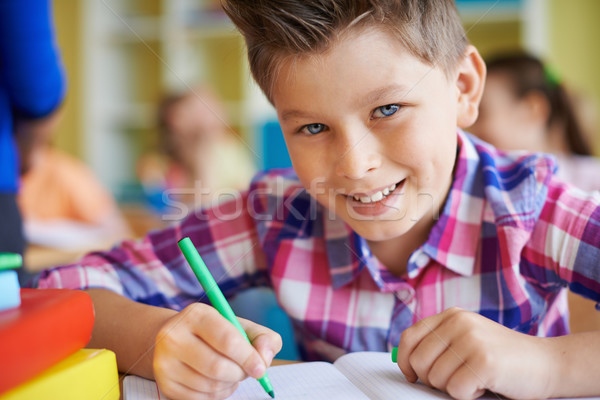 Stock photo: Pupil at lesson