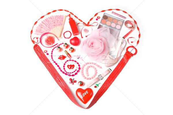 Сток-фото: любви · изображение · сердце · вверх · Lady