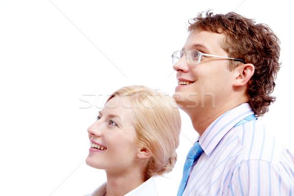 Portret geslaagd naar business vrouw Stockfoto © pressmaster