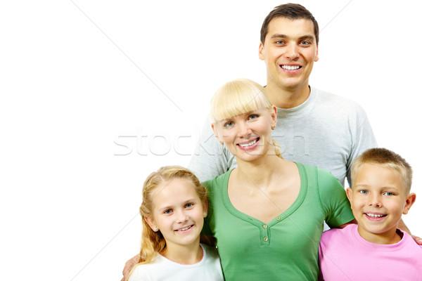 Retrato de família feliz sorridente família branco mulher Foto stock © pressmaster