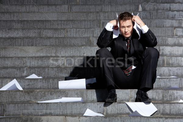 Reaction to crisis Stock photo © pressmaster