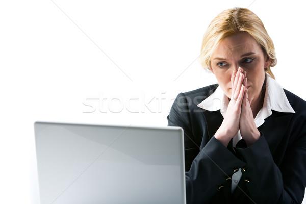 Szomorú hírek fotó csalódott üzletasszony néz Stock fotó © pressmaster