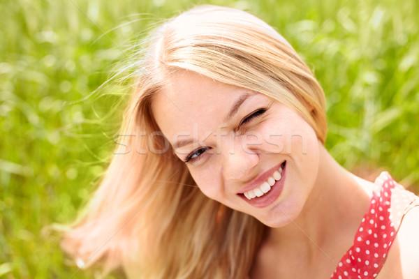 Woman winking  Stock photo © pressmaster