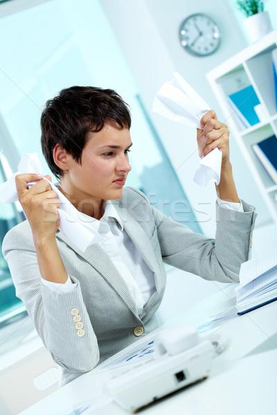 Erreur image jeunes employeur papier Photo stock © pressmaster