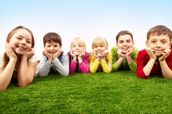 Stock photo: Resting children