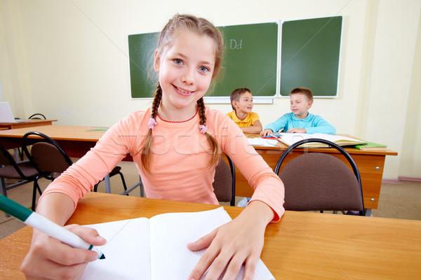 молодой портрет девушки месте студент образование Сток-фото © pressmaster