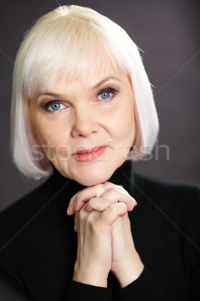 Posh Homme portrait maturité blond regarder Photo stock © pressmaster