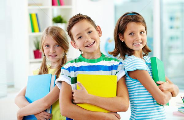 Сток-фото: Smart · дети · портрет · счастливым · Одноклассники · книгах