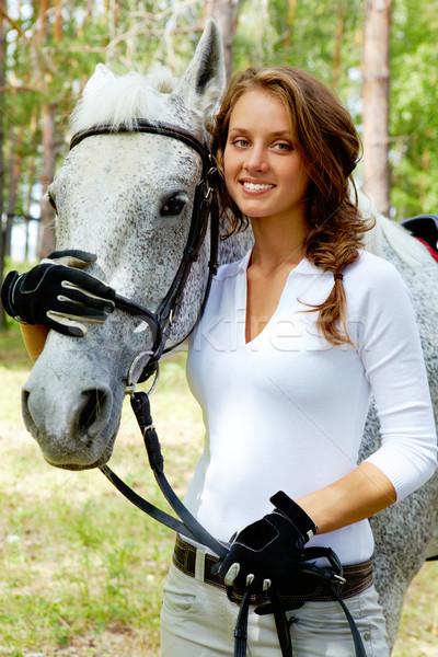 Girl and horse Stock photo © pressmaster