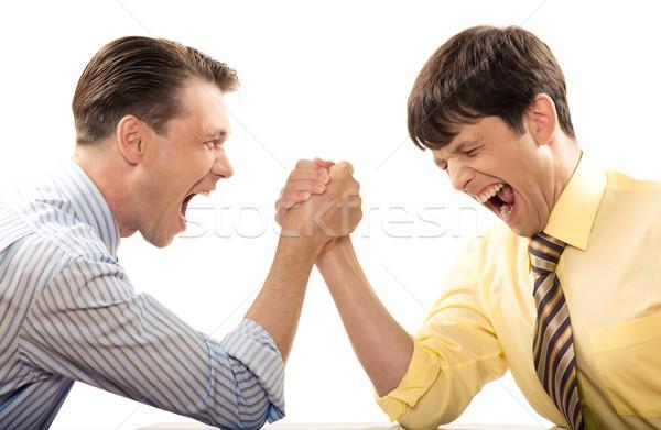 Płacz walczyć portret emocjonalny mężczyzn krzyczeć Zdjęcia stock © pressmaster
