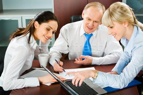 Foto stock: Negócio · ponto · retrato · sessão