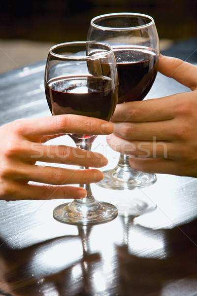 Stock photo: Two glasses