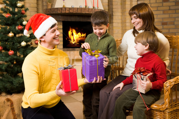 Stock photo: Receiving gifts