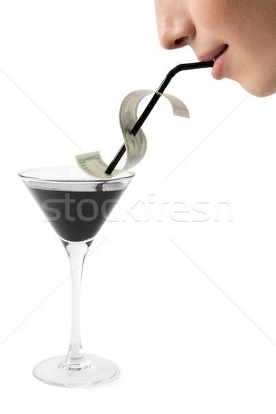 Photo stock: Potable · image · masculin · bouche · pétrolières · affaires