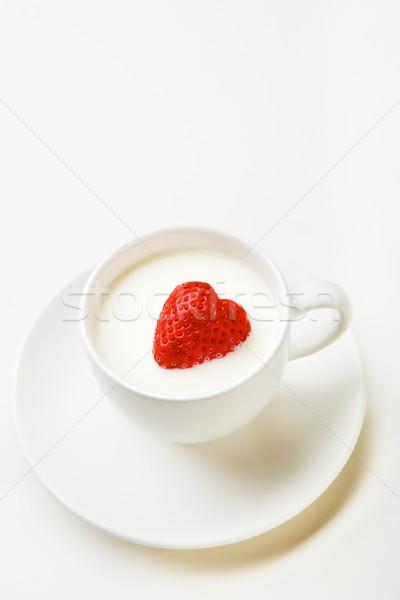 Stock photo: Milk with berry