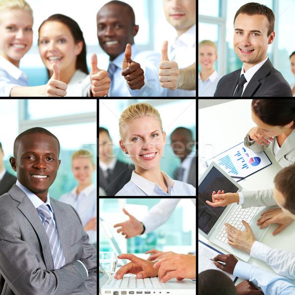 Stock fotó: üzlet · gyűjtemény · kollázs · üzletemberek · munka · vezetők