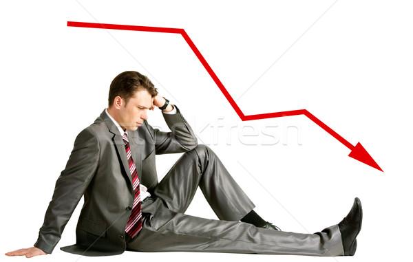 Moeite afbeelding peinzend zakenman vergadering studio Stockfoto © pressmaster