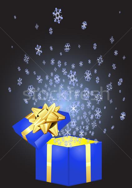 open blue giftbox  Stock photo © pressmaster