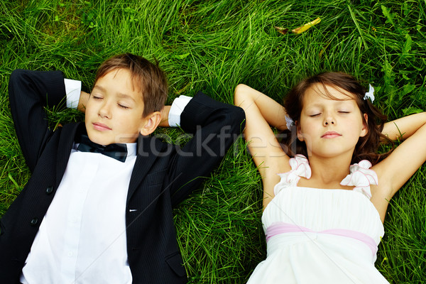 Restful kids Stock photo © pressmaster