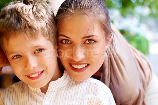 Genegenheid portret knap jongen glimlachend camera Stockfoto © pressmaster