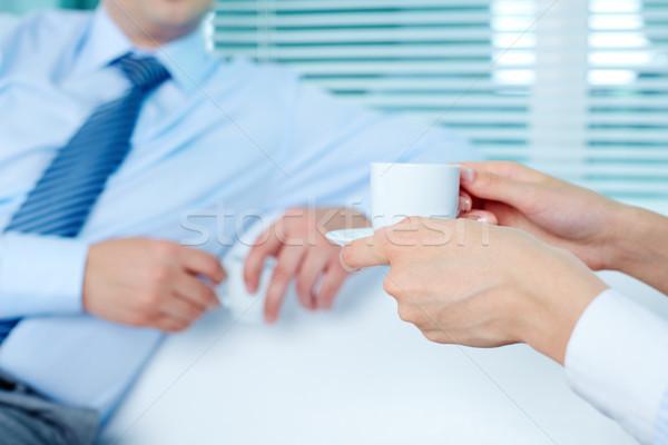 Кубок женщины рук кофе Сток-фото © pressmaster