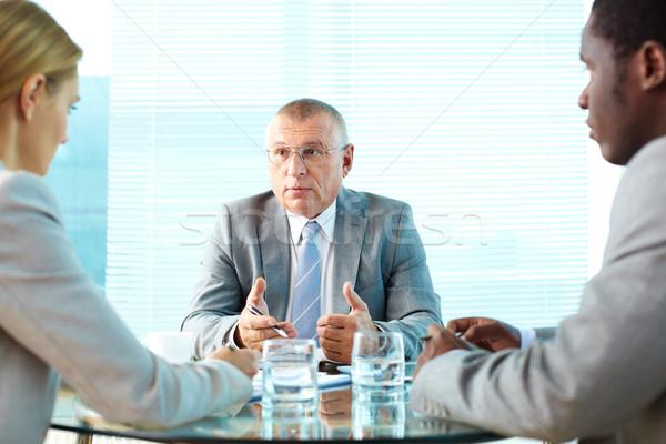 Compiti ritratto grave boss business Foto d'archivio © pressmaster