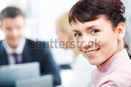 Stock fotó: Sikeres · alkalmazott · közelkép · boldog · üzletasszony · néz