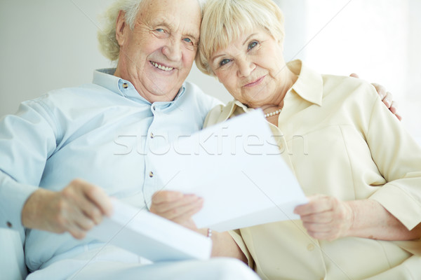 Reading correspondence Stock photo © pressmaster