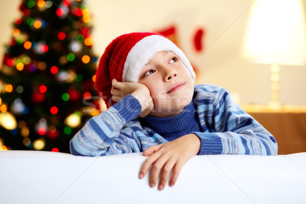 Dromen nieuwjaar afbeelding cute vent Stockfoto © pressmaster