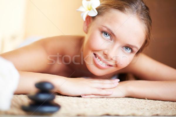Kellemes eljárás portré fiatal női kész Stock fotó © pressmaster