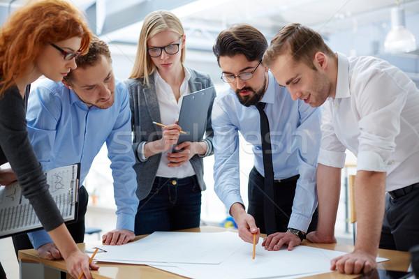 Plan ontwikkeling business team ontwikkelen samen kantoor Stockfoto © pressmaster