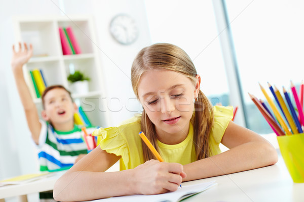 девушки месте портрет рисунок школьный товарищ студент Сток-фото © pressmaster