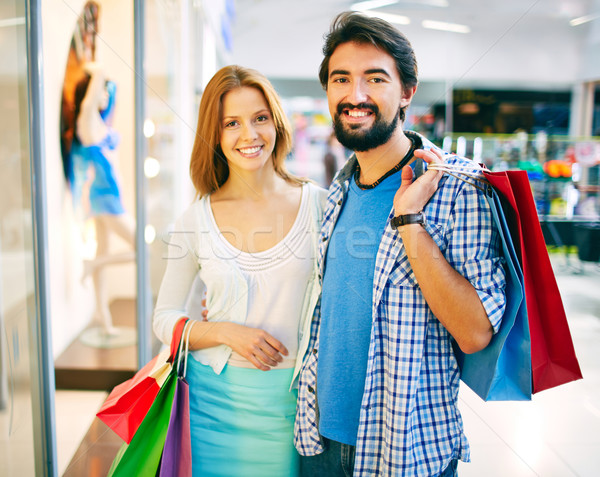 Stock photo: Young shoppers