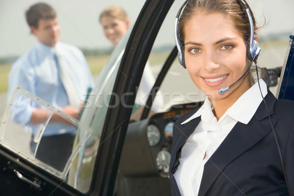 Commercial pilot Stock photo © pressmaster