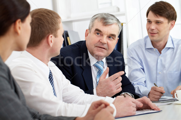 Stock photo: Discussion of strategy