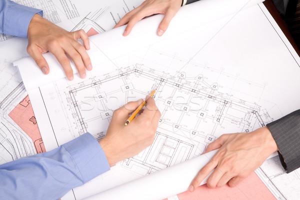 Stock photo: Explaining new project