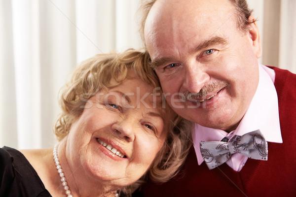 ストックフォト: 笑みを浮かべて · 夫 · 妻 · 肖像 · 成熟した · 一緒に