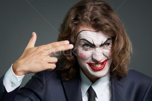 Business tragico ritratto imprenditore teatrale trucco Foto d'archivio © pressmaster