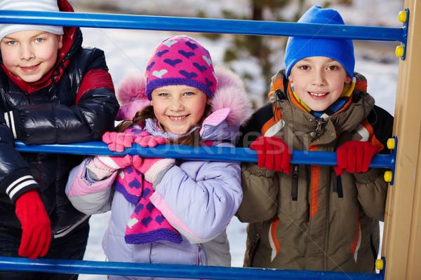 Felicidade feliz crianças olhando câmera fora Foto stock © pressmaster