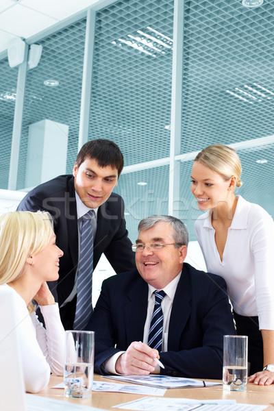 Foto stock: Exitoso · estrategia · desarrollo · negocios