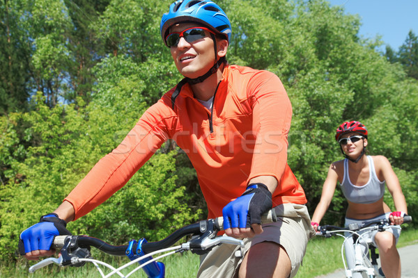 Bicyclists in park Stock photo © pressmaster