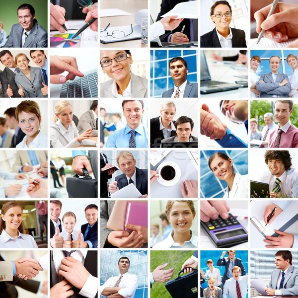 Stockfoto: Business · collage · objecten · verschillend