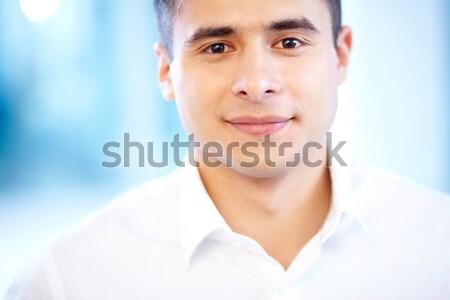 Arc üzletember derűs néz kamera mosoly Stock fotó © pressmaster