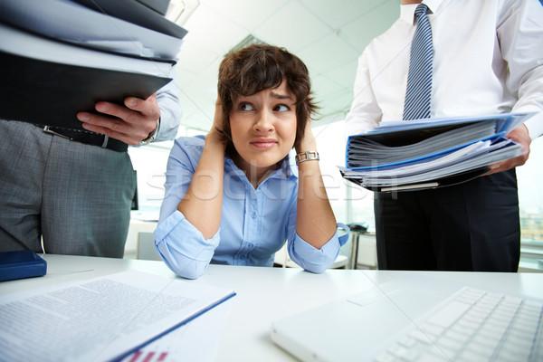 Too much work Stock photo © pressmaster