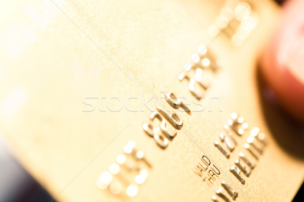 Stock photo: Close-up of card