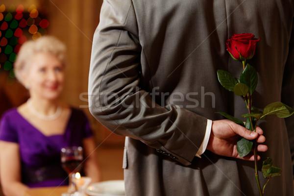 Present of rose  Stock photo © pressmaster