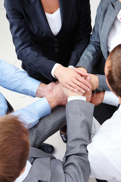 Obraz ludzi biznesu ręce górę działalności strony Zdjęcia stock © pressmaster