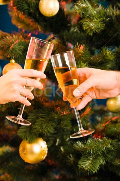Champagne flutes Stock photo © pressmaster